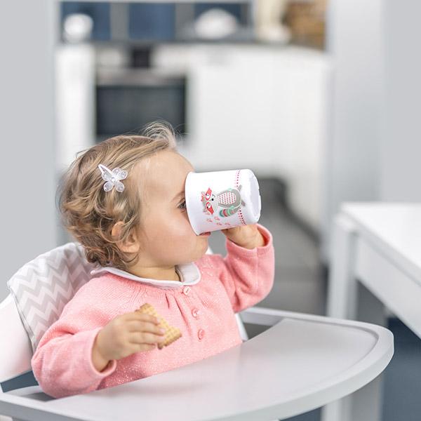 Tasse bébé pink racoon Badabulle