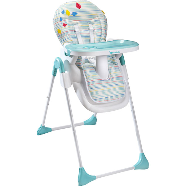 Chaise haute bébé easy blue grey Badabulle