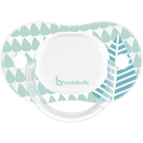 Lot de 2 sucettes silicone réversibles 6-12 mois blue trees garçon Badabulle
