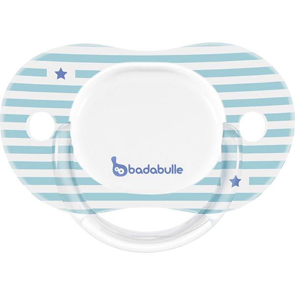 Lot de 2 sucettes silicone réversibles 12-36 mois all stars garçon Badabulle