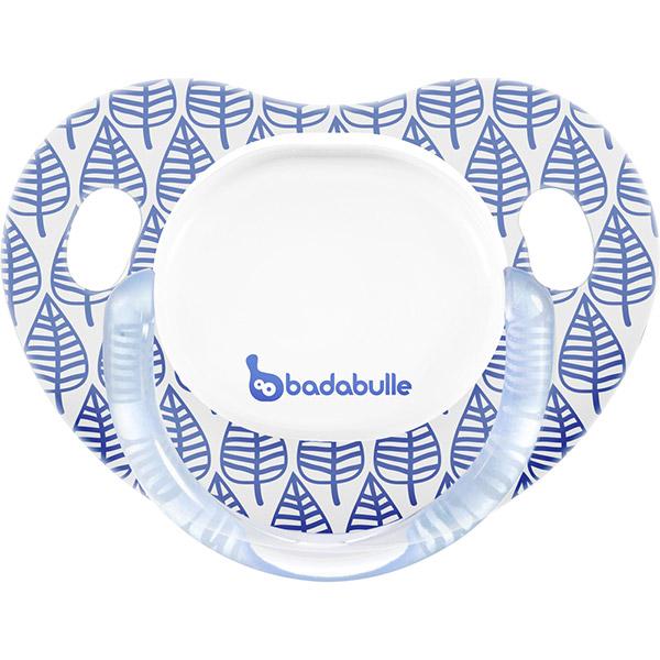 Lot de 2 sucettes bébé silicone 6-12 mois spring leaves garçon Badabulle