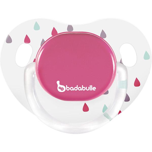 Lot de 2 sucettes silicone 12-36 mois rain drop fille Badabulle