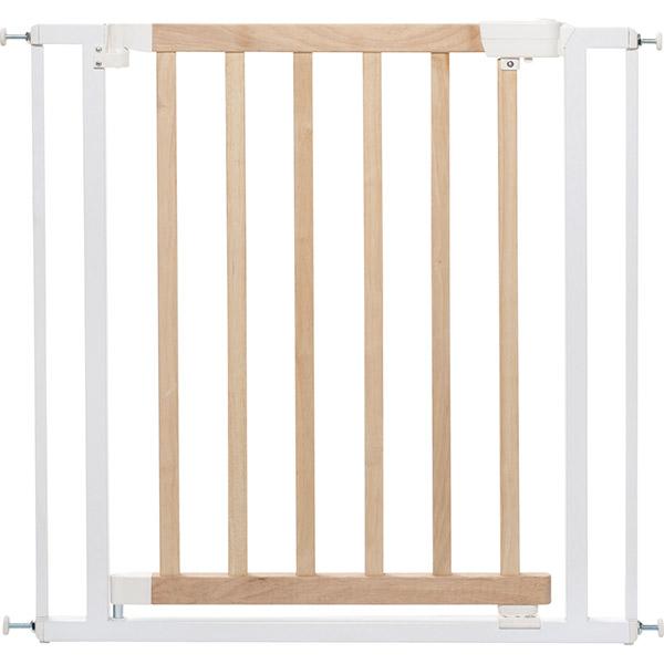 Barrière de sécurité easy close bois métal blanc 74,5-82,5cm Badabulle