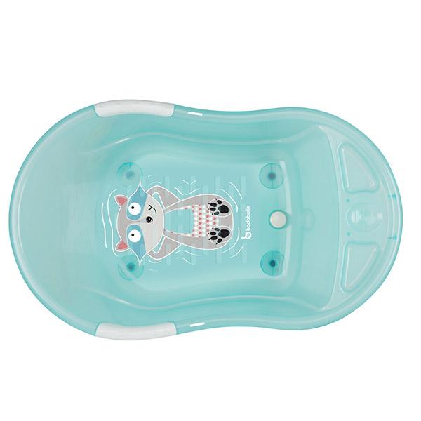 Baignoire bébé ergo ludique bleu translucide Badabulle