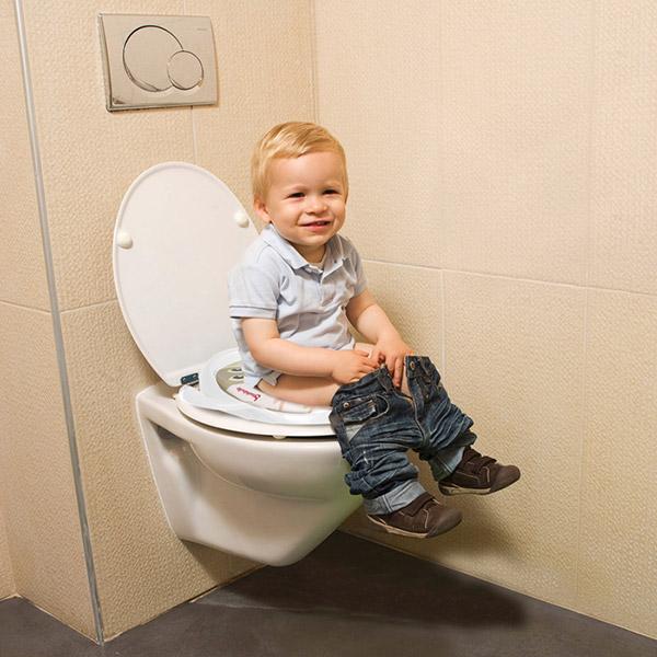Réducteur toilette bébé rembourré blanc Badabulle