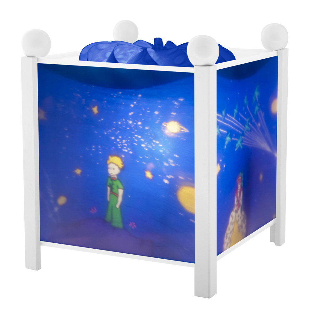 veilleuse b b lanterne magique le petit prince blanc 5 sur allob b. Black Bedroom Furniture Sets. Home Design Ideas