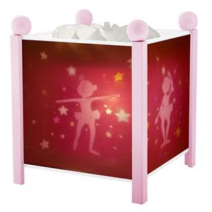 Veilleuse bébé lanterne magique ballerines rose