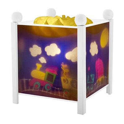 Veilleuse bébé lanterne magique train blanc Trousselier