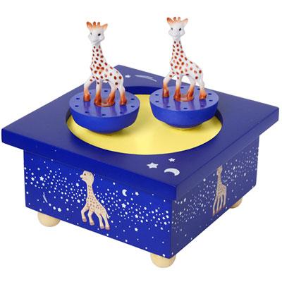 Boîte à musique en bois sophie la girafe voie lactée Trousselier