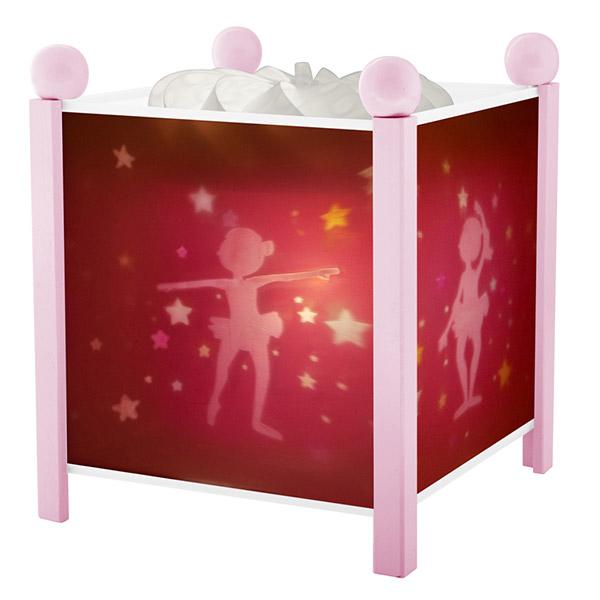 Veilleuse bébé lanterne magique ballerines rose Trousselier