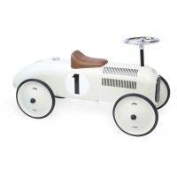 Porteur bébé voiture vintage blanc crème