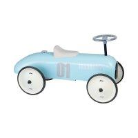 Porteur bébé voiture vintage bleu tendre