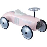 Porteur bébé voiture vintage rose tendre