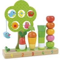 Jouet d'éveil bébé j'apprends à compter les légumes