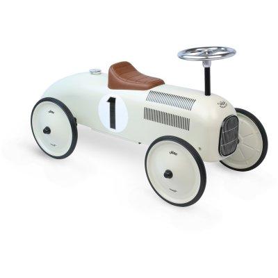 Porteur bébé voiture vintage blanc crème Vilac