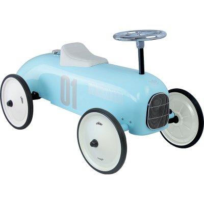 Porteur bébé voiture vintage bleu tendre Vilac