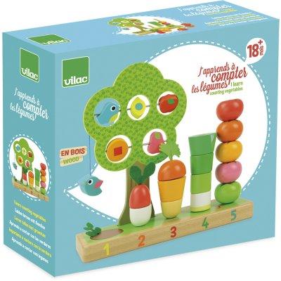 Jouet d'éveil bébé j'apprends à compter les légumes Vilac