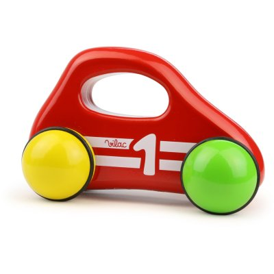 Jouet d'éveil bébé voiture 1er âge rouge Vilac