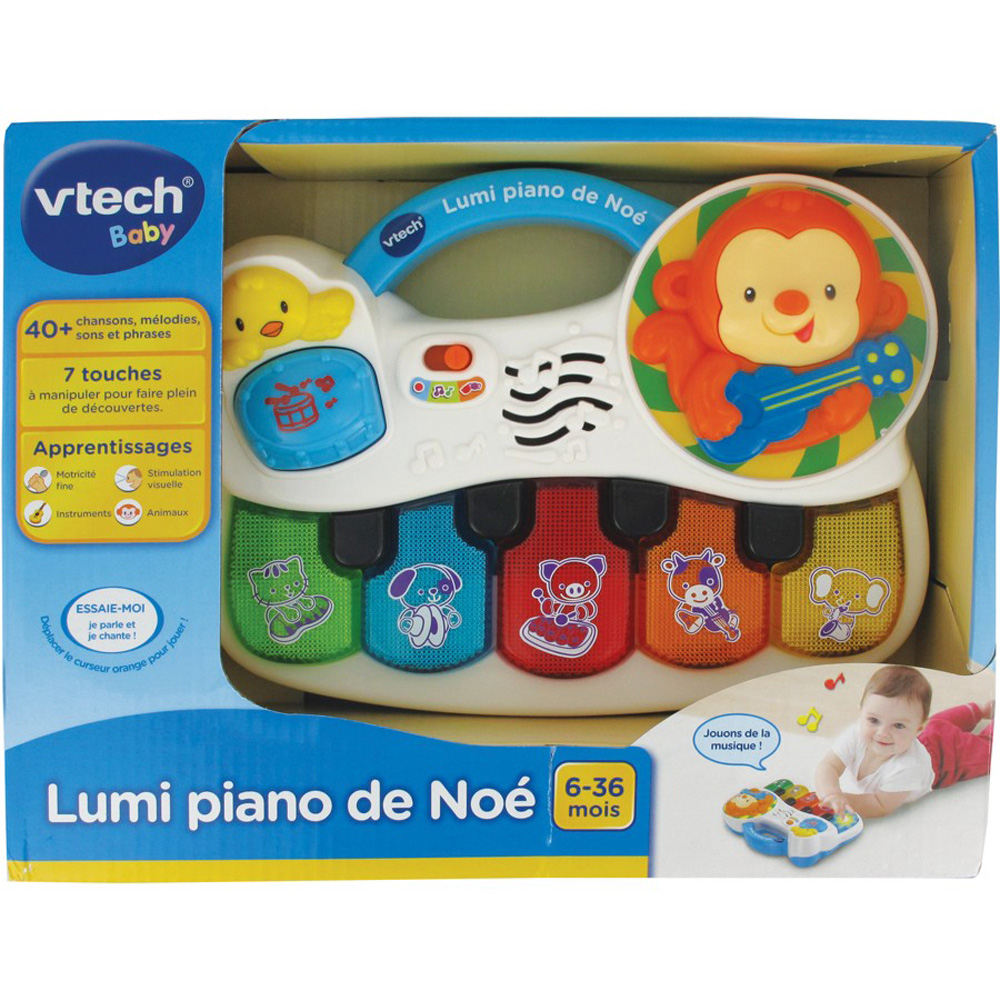 jouet d 39 veil b b lumi piano de no de vtech chez naturab b. Black Bedroom Furniture Sets. Home Design Ideas