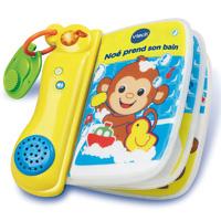 Livre de bain bébé interactif noe prend son bain
