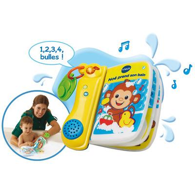 Livre de bain bébé interactif noe prend son bain Vtech