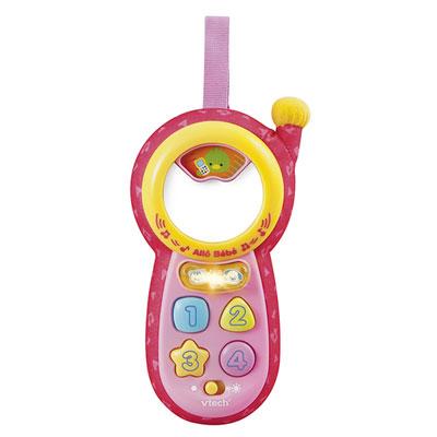 Jouets d'éveil bébé téléphone allô bébé rose Vtech