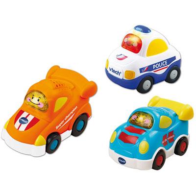 Jouet bébé voiture tut tut bolides (police+formule+voiture de course) Vtech