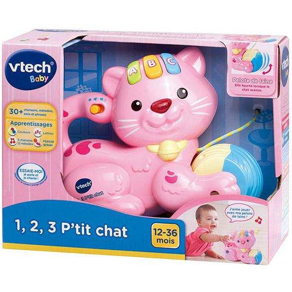 Jouet d'éveil 1, 2, 3 p'tit chat rose Vtech