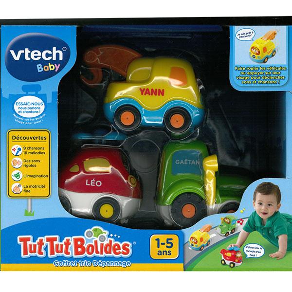 Jouet bébé voiture tut tut bolides (tracteur + hélico + dépanne) Vtech