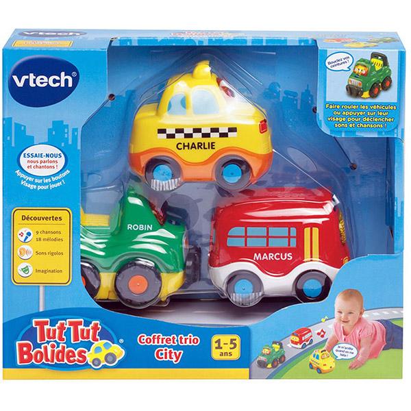 Jouet bébé tut tut coffret trio city Vtech