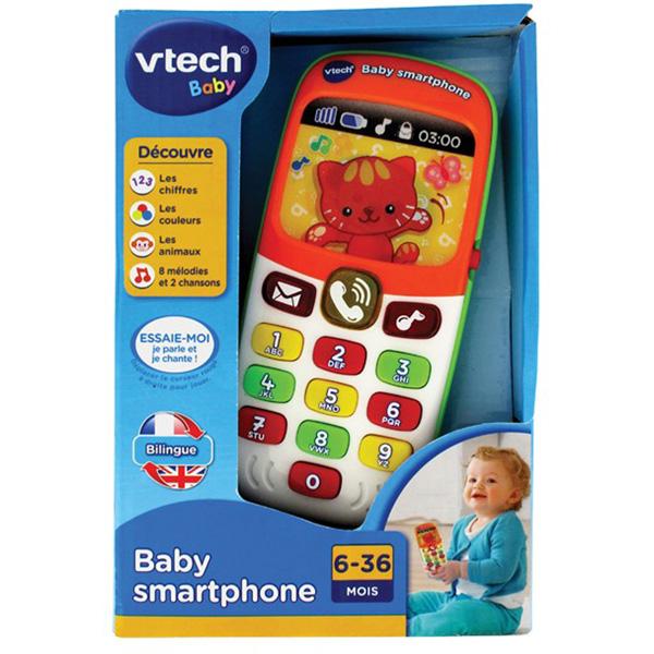 Jouet d'éveil bébé smartphone bilingue Vtech