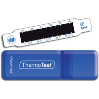 Indicateur frontal de température thermotest à cristaux liquides