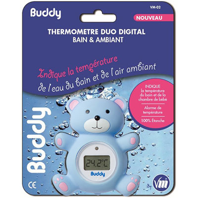 Thermomètre de bain bébé buddy Visiomed