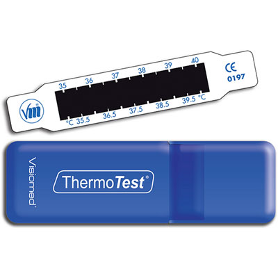 Indicateur frontal de température thermotest à cristaux liquides Visiomed
