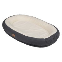 Réducteur de lit baby nest care solid dark grey 0-4 mois