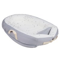 Réducteur de lit baby nest premium 0-7 mois grey flying