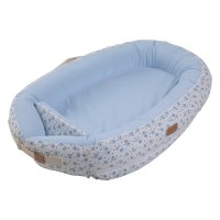 Réducteur de lit baby nest premium 0-7 mois blue moon