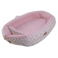 Réducteur de lit baby nest premium 0-7 mois rose moon