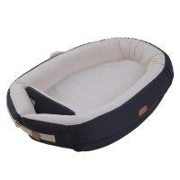 Réducteur de lit baby nest premium 0-7 mois solid dark grey