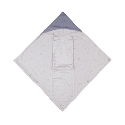 Chancelière baby wrap 0-12 mois light grey star Voksi