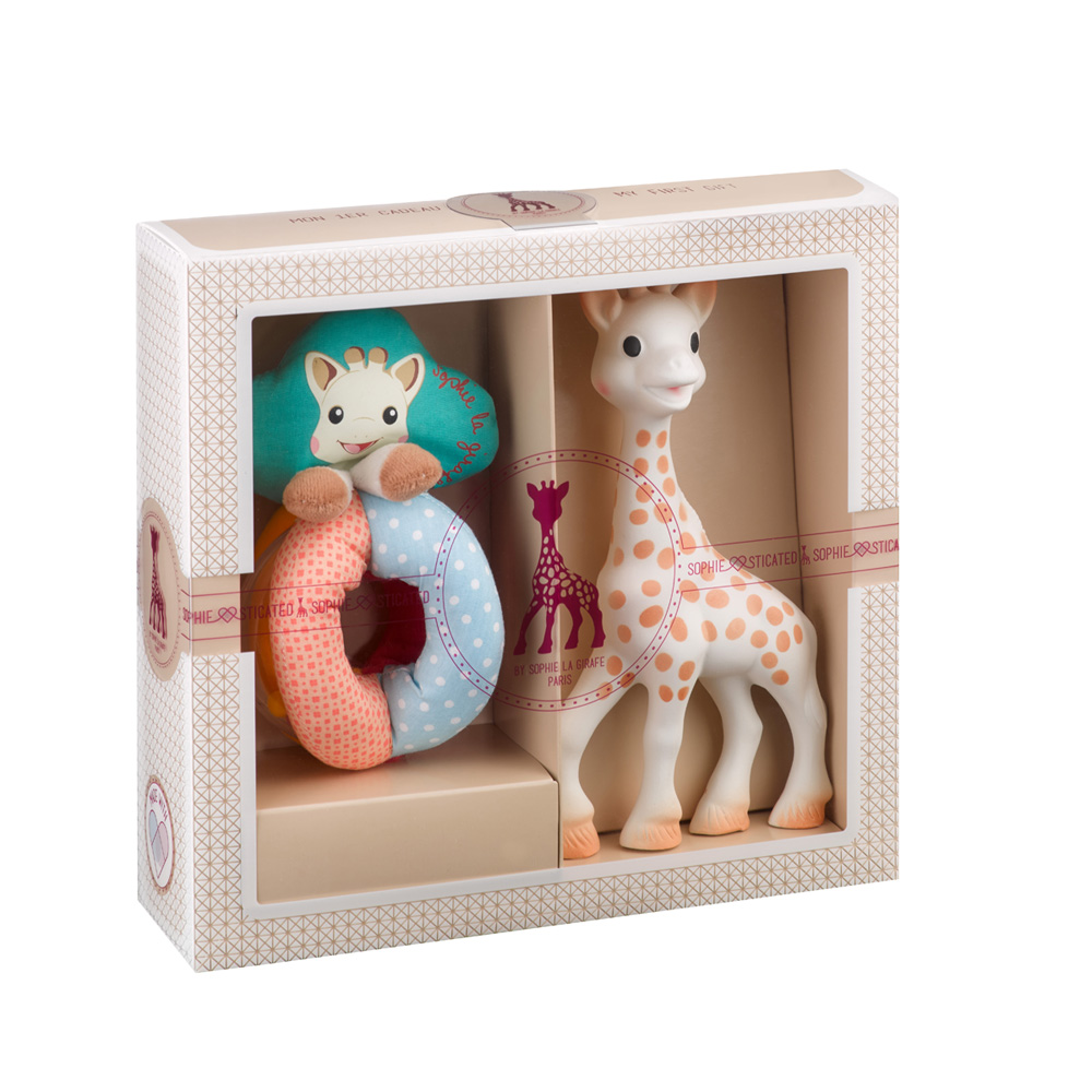 coffret naissance petit mod le sophie la girafe de vulli. Black Bedroom Furniture Sets. Home Design Ideas