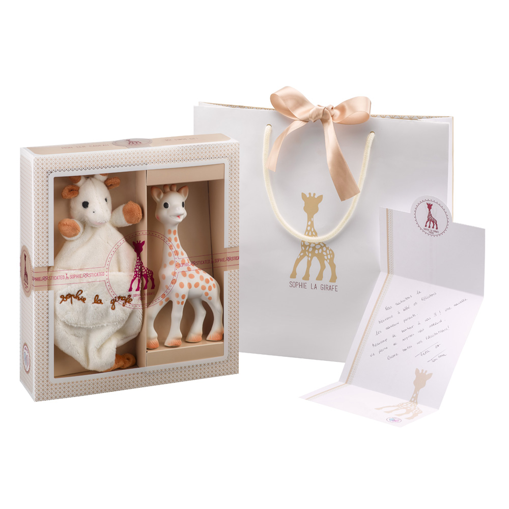 coffret naissance moyen mod le sophie la girafe de vulli sur allob b. Black Bedroom Furniture Sets. Home Design Ideas