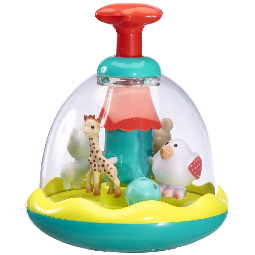 vulli jouet d 39 veil b b toupie swing folies sophie la girafe. Black Bedroom Furniture Sets. Home Design Ideas