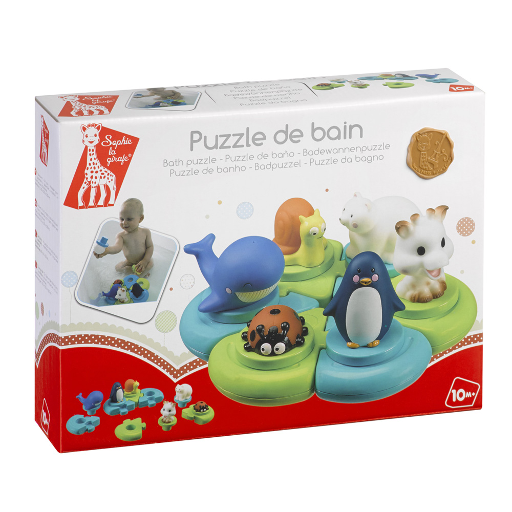 jouets de bain b b puzzle sophie la girafe de vulli sur allob b. Black Bedroom Furniture Sets. Home Design Ideas