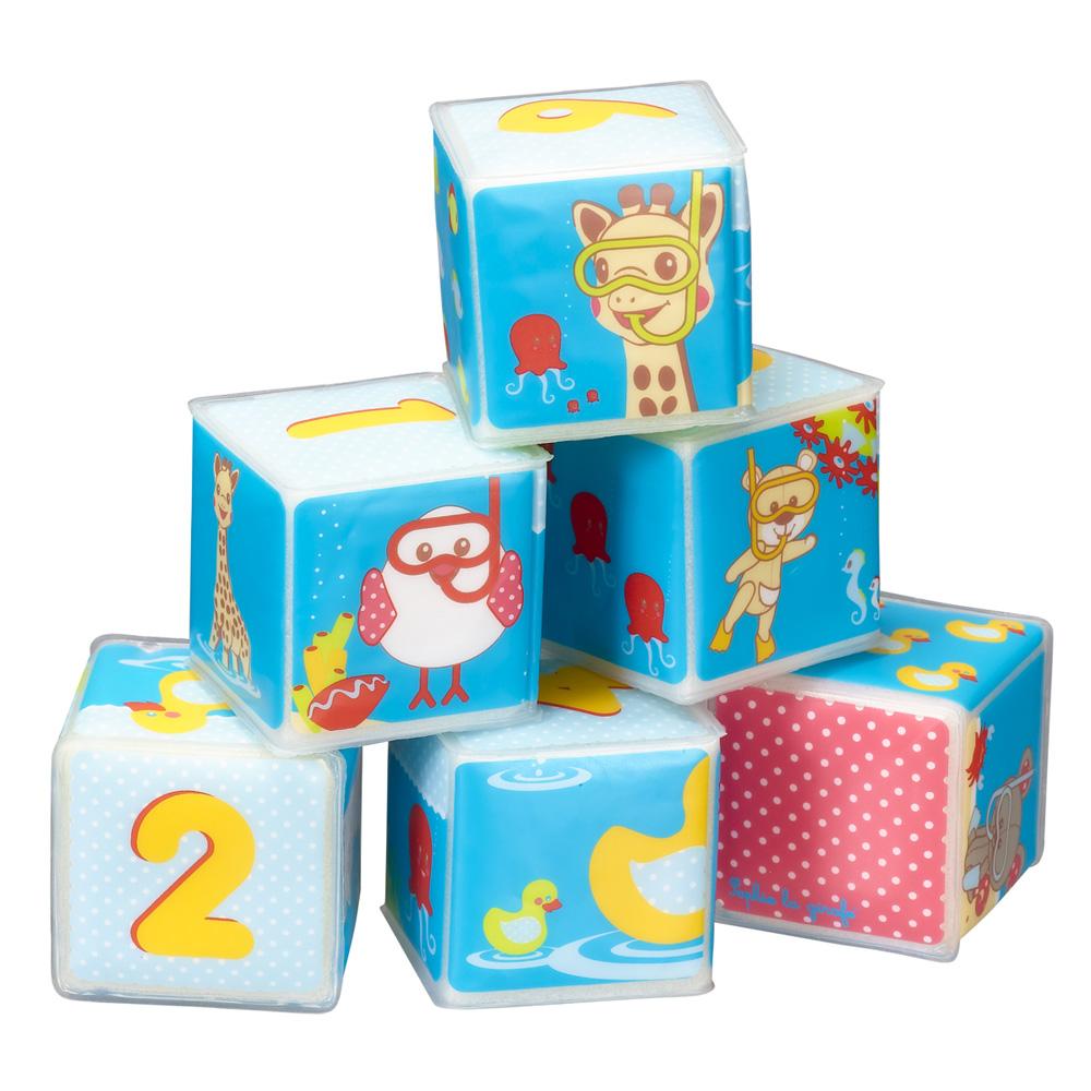 jouets de bain b b cubes sophie la girafe de vulli sur. Black Bedroom Furniture Sets. Home Design Ideas