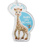 Signalétique flash baby on board sophie la girafe pas cher