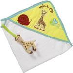 Sortie de bain bébé sophie la girafe pas cher