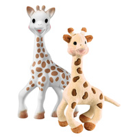 Set girafe peluche bébé + sophie la girafe