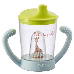 Tasse anti-fuite mascotte sophie la girafe