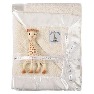 Couverture lit bébé prestige sophie la girafe 73x85 cm